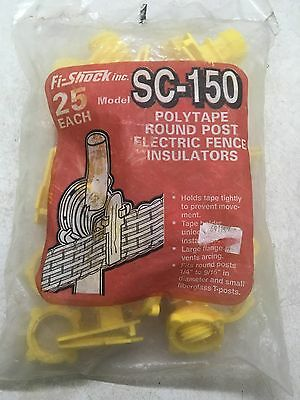Sc-150 Polytape Round Post Electric Fence Insulators