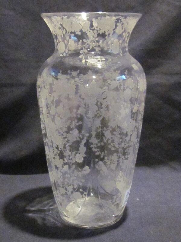 Cambridge Rose Point Vase #1242