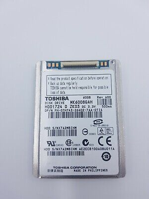 Toshiba MK6008GAH 60 GB hard disk / disque dur 1.8'' HDD for dell latitude