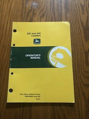 John Deere 520540 Tractor Loader Omw40696 Operators Book 52005400
