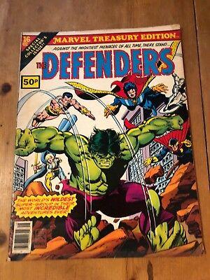 HUGE MARVEL COMICS - MARVEL TREASURY EDITION #16 (1978) FN+ - THE DEFENDERS