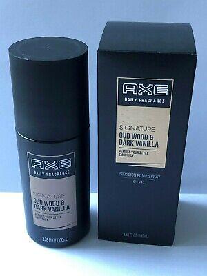 AXE Men's Signature Oud Wood & Dark Vanilla 3.38oz Daily Fragrance Spray NIB