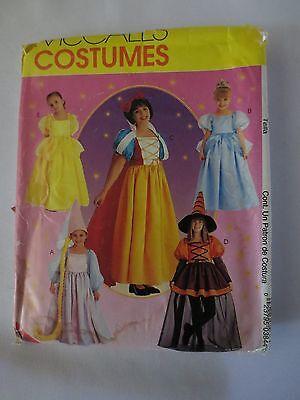 McCall Sew Pattern P384 Children Costume Rupunzel Cinderella Snow White 10,12,14