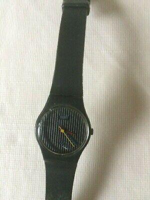 Vintage Swatch Watch Miss Pinstripe LA100 Standard Ladies 25mm - Working