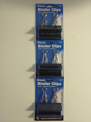 Binder Clips Large - 2 51mm 12 Dozen - Black