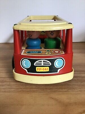Vintage 1970 Fisher Price Little People 141 Play Family Mini Bus Complete