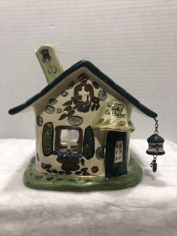 Heather Goldminc Sister's Cozy Cottage Tealight Holder Blue Sky Day Works