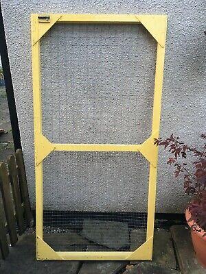 Wooden Aviary Cage Door Panel + Wire Mesh Poultry Run Chicken Rabbit Dog Bird 3