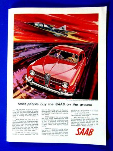 "1966 Saab  JET Usually Bought On Ground Original Print Ad 8.5 x 11"""