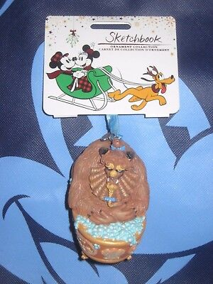 Disney Store Sketchbook Ornament Bath Time Tub The Beast Bathtub New.