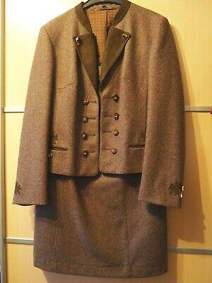 schickes Loden Damen Trachten Kostüm Gr 40/42 braun - Vintage Damen Trachten