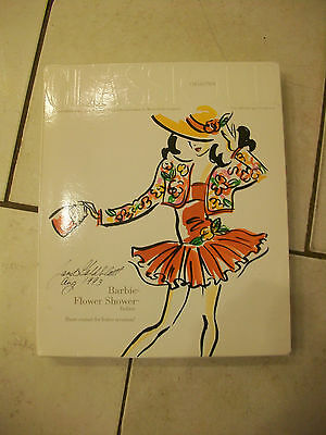 BARBIE FLOWER SHOWER FASHION 1993 COLLECTORS EDITION CLASSIQUE SIGNED