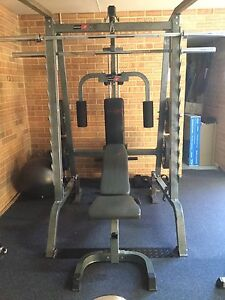 BODYWORX SMITH MACHINE & BENCH  - SQUATRACK - LAT PULL + 170kg WEIGHTS Meadow Springs Mandurah Area Preview