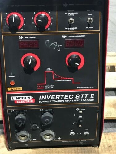 LINCOLN INVERTEC STT II WELDER, SURFACE TENSION TRANSFER K1525-1