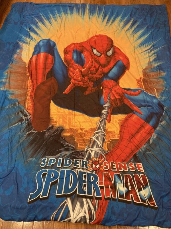 """Vtg Spider Sense Spider-Man Comforter Approx 84"""" X 64"""""""