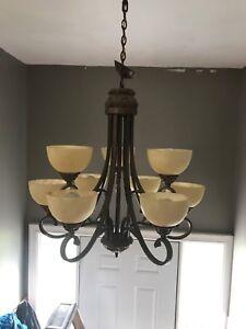 Large 9 light chandelier