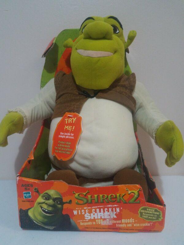 NIB Hasbro Shrek 2 Wise Crackin Shrek