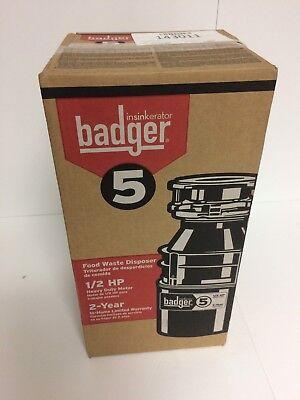 In-Sink-Erator 1/2 HP Garbage Disposal, 120 Voltage - BADGER 5 NEW