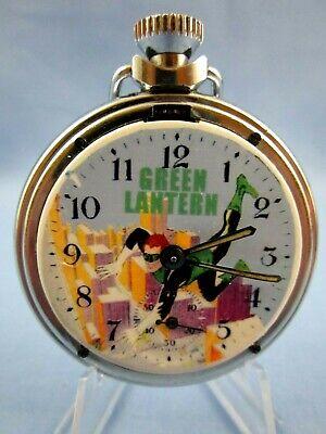 VINTAGE 1960's ** GREEN LANTERN ** SUPERHERO ADVERTISING POCKET WATCH ~RARE~