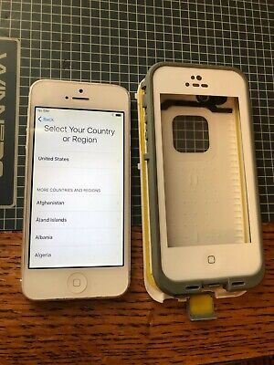 iPhone 5, A1428, 32GB white and gray.