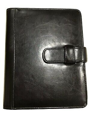 Classic Black Simulated Leather Day Planner 7 Ring Binder By Day-timer 1 Ring