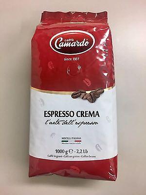 Caffe Camardo Espresso Crema 1kg Coffee Beans similar Lavazza Illy Italian