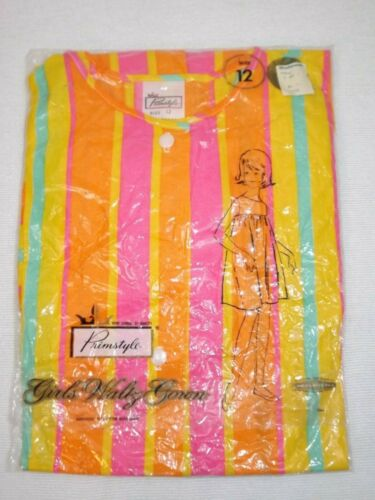 Vintage Girls Size 12 Woolworth Primstyle Waltz Gown New circa Late 60