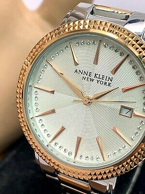 Anne Klein Women's Watch 12/2315 Two Tone Stainless Steel Quartz 36mm W Box