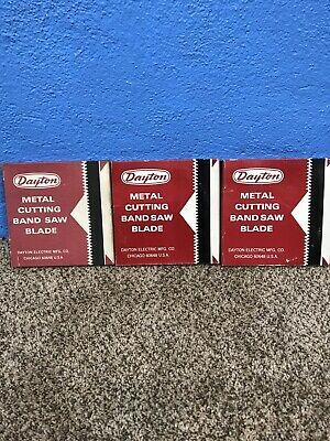 3 Vintage Dayton Metal Cutting Band Saw Blades 2z138b 2z139 Nib
