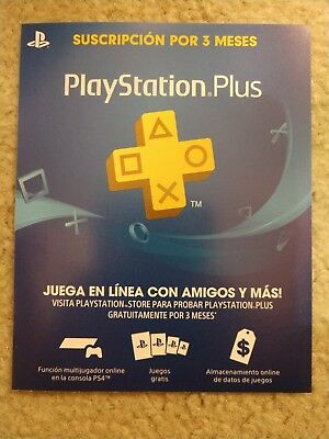 Physical Card for Sony PlayStation Plus 3 Month Membership Genuine PS4