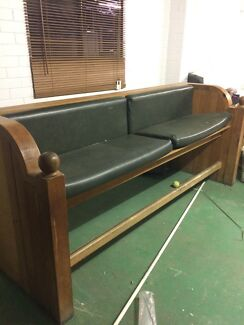 High bench seat like a church pew
