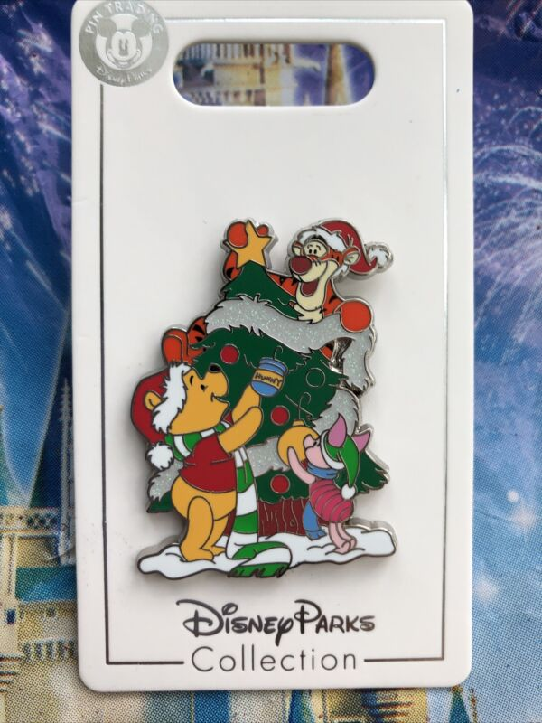 Disney Parks Pin Winnie The Pooh Tigger Piglet Christmas Tree Holidays 2020 OE