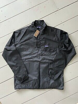 Patagonia Men's Lightweight Packable Houdini Snap-T Pullover Jacket Forge Grey