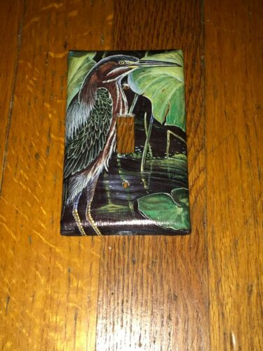 CLASSIC GREENBACKED HERON BIRD LIGHT SWITCH COVER PLATE