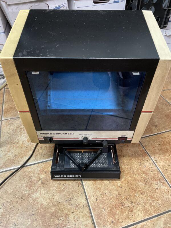 Vintage Micro Design Micro Copy 10cm Microfische Reader With Printer