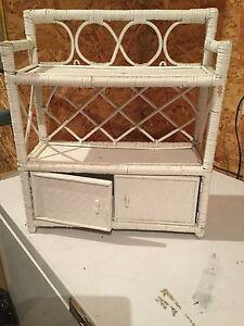 Wicker storage shelf