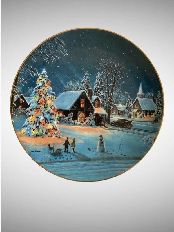 Vtg 1993 Oh Christmas Tree By Jesse Barnes Bradford Exchange Decorative Plate