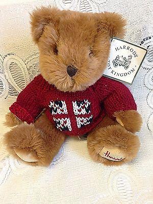 """HARRODS Teddy Bear Knightsbridge, England  Plush stuffed high end teddy 13"""""""