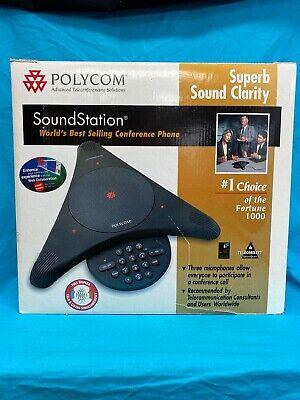 Polycom Soundstation Ex Wireless Conference Speaker Phone External Microphones