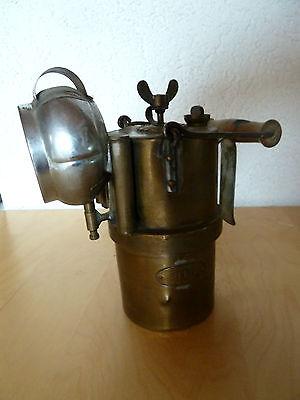 sehr Seltene alte Karbid Lampe Decker Neuchatel Schweizer Armee