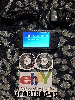 Sony PSP 1000 1001 PlayStation Portable W/ Star Wars Battlefront Metal Gear
