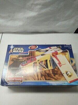 Star Wars Republic Gunship Hasbro 2002 New Sealed box mib rare clones