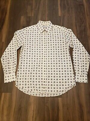 Versace Collection Mens Dress Shirt Slim Long Sleeve excellent Condition