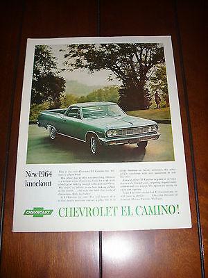 1964 CHEVROLET EL CAMINO  Original Vintage Ad