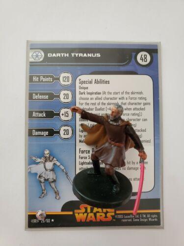 Darth Tyranus - 29 Star Wars Miniatures » Revenge of the Sith