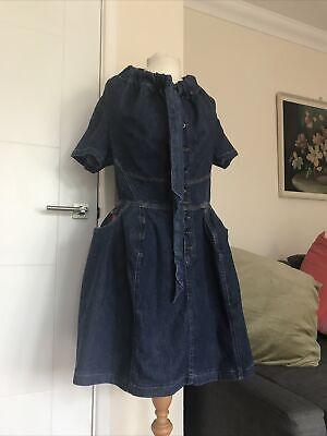 Vivienne Westwood Anglomania Lee Denim Dress Size L Uk 12