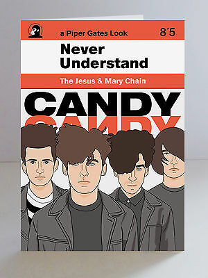 The Jesus And Mary Chain Limited Edition A5 Greeting Card Indie Shoegaze Goth