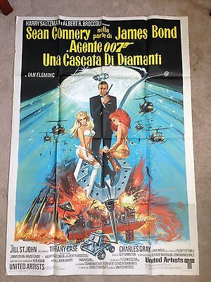 1971 Orig Italian Movie Poster Diamonds Are Forever James Bond 007 Sean Connery