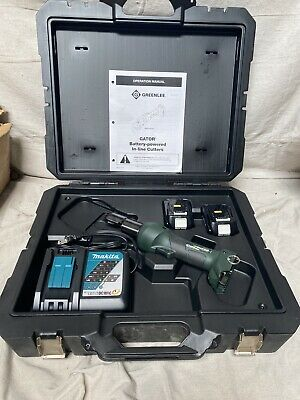 Greenlee Gator Ets12x 18v Battery Powered Bolt Cutter Kit Batteries And Charger