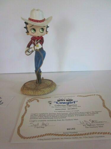 Betty Boop Cowgirl Figurine Danbury Mint